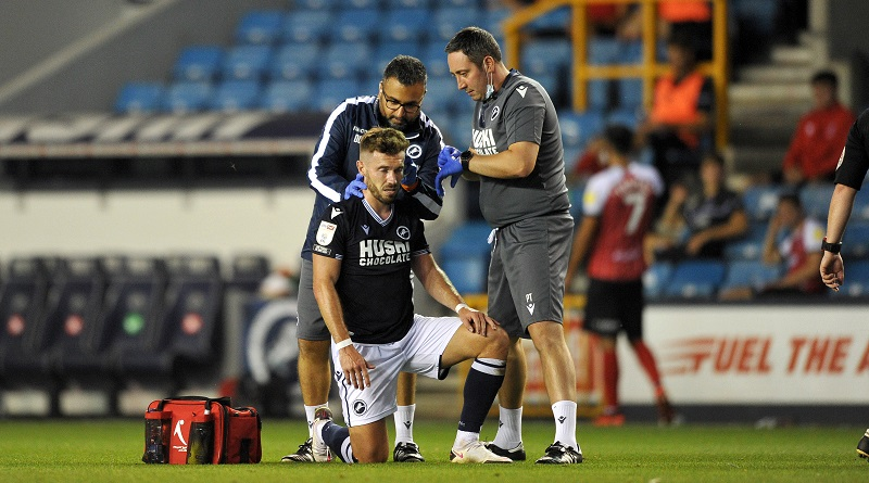 Millwall striker added to lengthy Lions injury list and is a doubt to face Blackburn Rovers