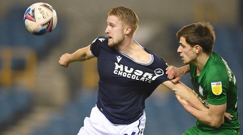 Millwall boss heaps praise on Billy Mitchell after he dominates midfield battle against former Lion Jayson Molumby