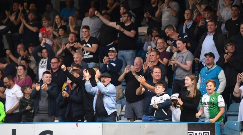 IN PHOTOS: Millwall fans make return as Jake Cooper scores in draw at Gillingham