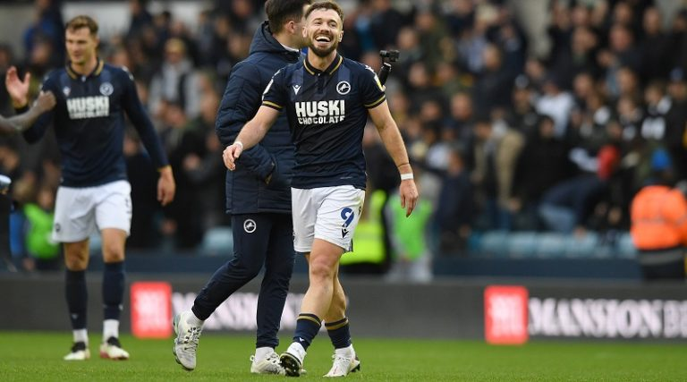 Millwall's Tom Bradshaw explains his mindset before opening his season's account against Stoke